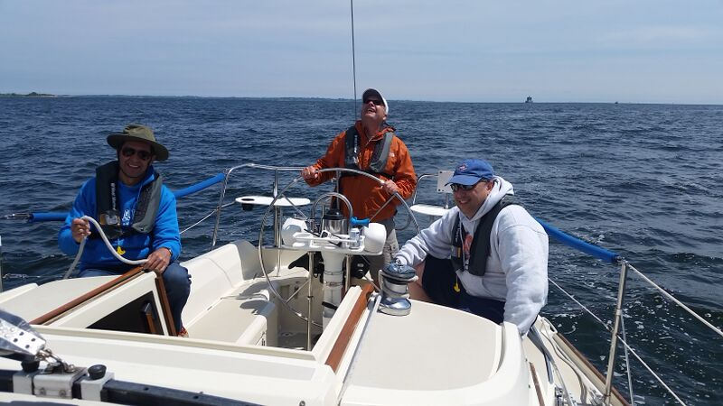 David giving sailing lessons in New London CT